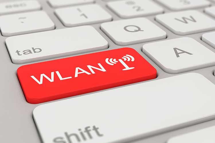 Tastatur mit WLAN-Taste