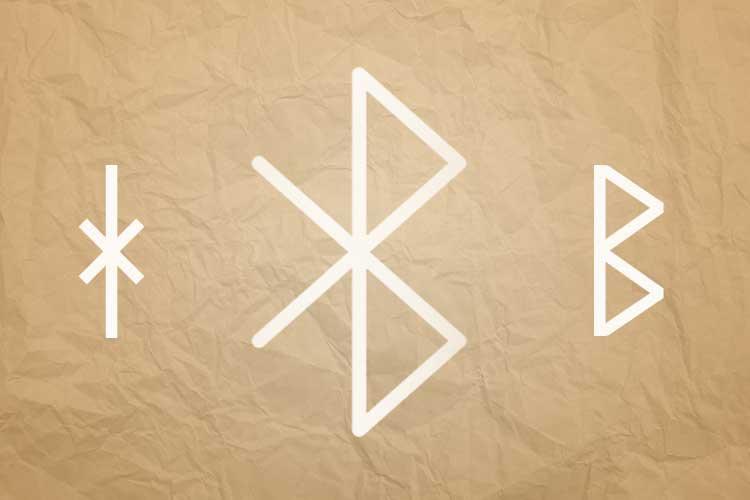 Bluetooth Icon und altnordische Buchstaben