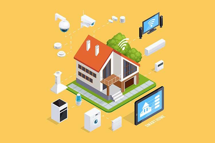 ZigBee vs Z-Wave: Das Smart-Home-Prinzip wird anhand eines Modells dargestellt