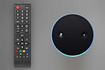 Sprachsteuerung vs. Fernbedienung: Bedienung für den Fernseher und ein Amazon Echo nebeneinander