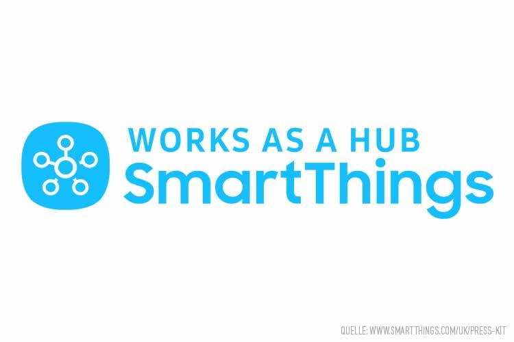 SmartThings Logo: Blaue Schrift auf weißem Untergrund