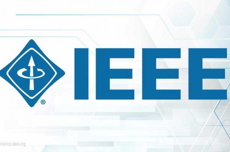 IEEE 802.15.4: Logo des Institute of Electrical and Electronics Engineers, Blaue Schrift auf weißem Grund