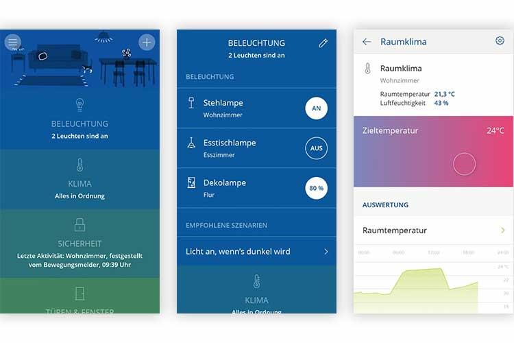 innogy SmartHome: Screenshots von der innogy App